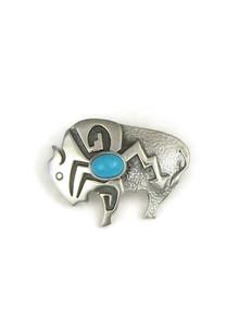 Sleeping Beauty Turquoise Buffalo Pin