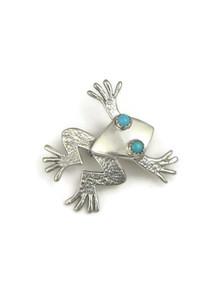 Sleeping Beauty Turquoise Frog Pin