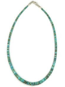"""Turquoise Heishi Necklace 17"""" by Ronald Chavez"""