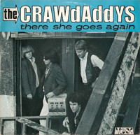CRAWDADDYS, THE - There She Goes AGain  (60s style mod garage) PIC SLV- 45 RPM