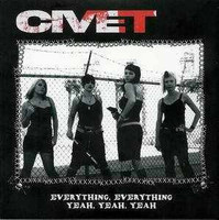 CIVET - Everything, Everything -HOT PINK VINYL- 70s style Punk girls! 45 RPM