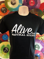 ALIVE LOGO on  BLACK SHORT SLEEVED SHIRT