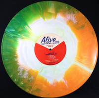 JACK LEE (NERVES) BIGGER THAN LIFE -ANTHOLOGY- AUTOGRAPHED HAND MIXED STARBURST VINYL GATEFOLD DBL LP - LTD. TO 150 COPIES