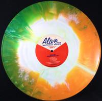 JACK LEE (NERVES) BIGGER THAN LIFE -ANTHOLOGY- AUTOGRAPHED HAND MIXED STARBURST VINYL GATEFOLD DBL LP - LTD. TO 150 COPIES