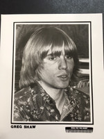 GREG SHAW - WHO PUT THE BOMP PROMO PHOTO 70'S