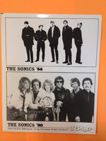 SONICS - ORIGINAL GLOSSY PROMO PHOTO (80'S)