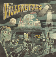 VILLENETTES  - LADY LUCK (The Shangri La's jamming with The Ramones, with Poison Ivy on guitar) CD
