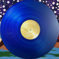 BEACHWOOD SPARKS  - ST  AUTOGRAPHED BY BRENT RADEMAKER  (great country pop psych) LTD Edition BLUE vinyl  LP