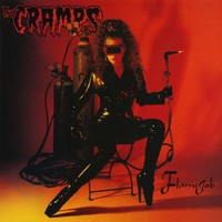 CRAMPS- Flame Job LTD ED RED VINYL-gold foil-numbered-LP