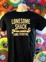 LONESOME SHACK   -  BLACK with cream lettering SALE! -  Tshirts