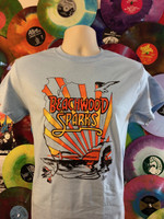 BEACHWOOD SPARKS  -  BLUE  SHIRT w 3 color design from Desert Skies LP -  Tshirts