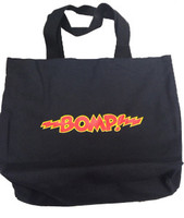 BOMP RECORD TOTE BAG  - Black with classic BOMP logo in red and yellow  TOTES