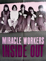 MIRACLE WORKERS  - Inside Out  ( original rare promo poster for garage legends ) -  POSTERS