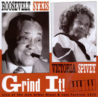 ROOSEVELT SYKES / VICTORIA SPIVEY - Grind It (booklet W liners and rare photos- Detroit blues)CD
