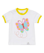 Butterfly White  Tee