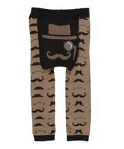 Tan Mustache Leggings
