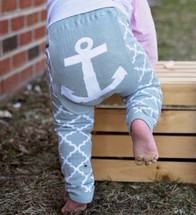 Anchor Quatrefoil Cotton Leggings