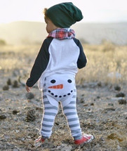 Snowman Stripes Leggings
