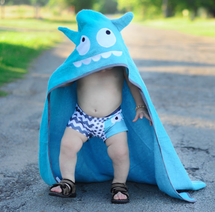 Blue Monster Hooded Towel