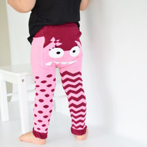 Pink Monster Cotton Leggings
