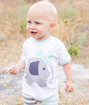 Blue Elephant Balloon Shirt