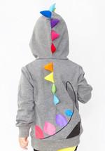 Dino Rainbow Spikes 3D Hoodie