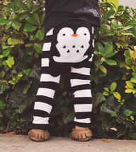 Penguin Stripes Cotton Leggings