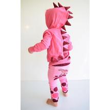 Pink Dino 3D Hoodie