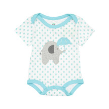 Blue Polkadot Elephant Bodysuit NEW