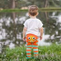 Orange Robot Leggings