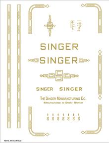 Singer 201 Restoration Decals