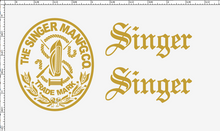 Singer 20 Toy Sewing Machine Restoration Decals Script Letters  SingerDecals.com