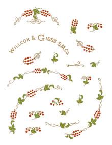 Willcox and Gibbs restoration decals. from singerdecals.com