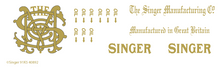 Singer 91-K5  Decals for Restorations 40892