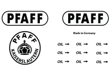 Pfaff Commercial Sewing  Machine Restoration Decals