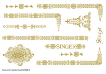Custom Singer 221 Restoration Decals