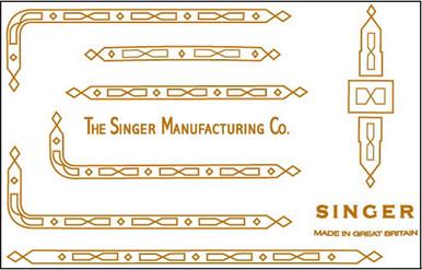 Singer 221K/222 Featherweight Decals for Restorations Prism Design  SingerDecals.com