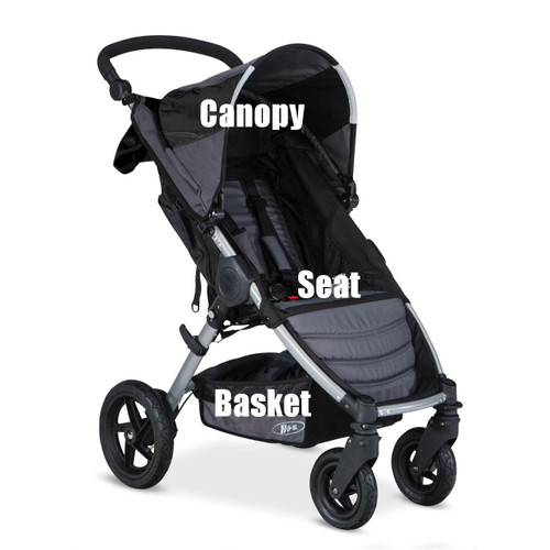 Image 1  sc 1 st  BOB parts & BOB Motion Stroller Canopy Replacement Black S888100