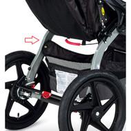BOB Revolution PRO/Single 2014-2015 stroller Swing Arm installed.
