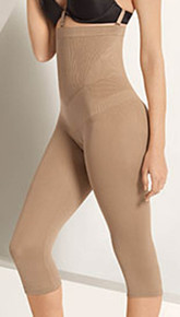 JF019 Nude High Waist Capri Legging