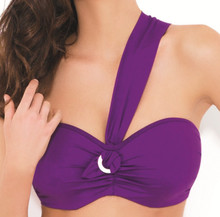 PA0633 Purple Bandeau Sophia by Panache