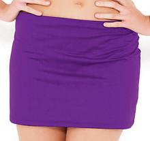 PA0637 Purple  Skirted Swim Brief