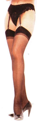 SH5027 Shirley Of Hollywood Nylon Stockings Black