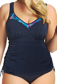 ES7072 Black Abstract Moulded Tankini Top by Elomi