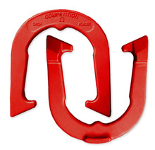 Red Competition Horseshoes