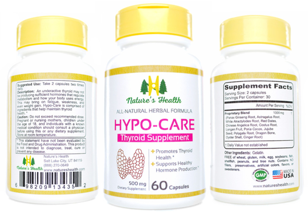 Hypo-Care Thyroid Supplement Herbal Formulation