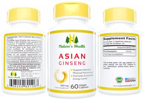 Asian Ginseng: Panax Ginseng Herbal Supplement