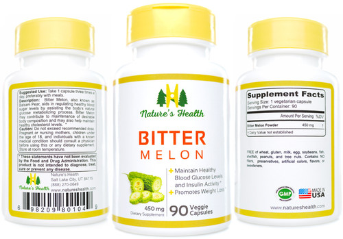 Bitter Melon: Momodica Charantia  Herbal Supplement