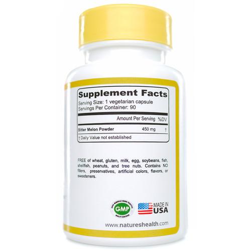 Bitter Melon: Momodica Charantia  Supplement Facts