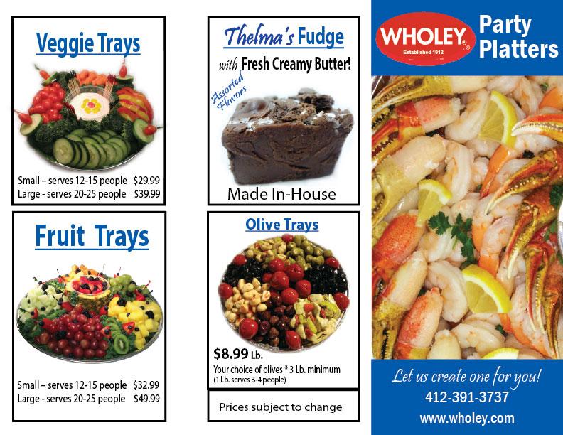 Fresh Party Trays Robert Wholey Company